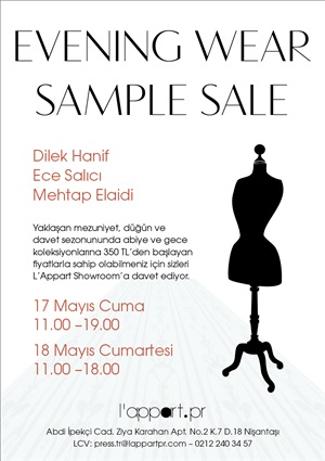 Davetten nce sample sale'e